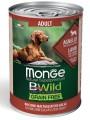 Беззерновые консервы Monge Dog BWild GRAIN FREE для взрослых собак всех пород из ягненка с тыквой и кабачками 400г