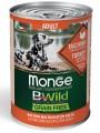 Беззерновые консервы Monge Dog BWild GRAIN FREE для взрослых собак всех пород из индейки с тыквой и кабачками  400г