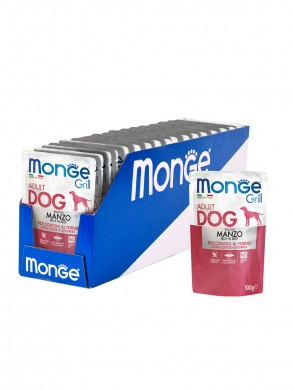 Влажный корм Monge Dog Grill Pouch для собак говядина (100 г)
