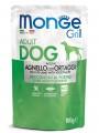 Влажный корм Monge Dog Grill Pouch для собак ягненок с овощами (100 г)