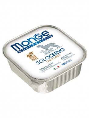 Консервы Monge Dog Monoproteico Solo для собак паштет из оленины (150 г)