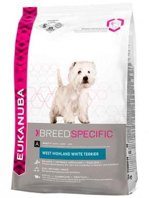 Сухой корм Eukanuba Adult Dry Dog Food For West Highland White Terrier Chicken для собак породы Вест Хайленд Терьер (2,5 кг)