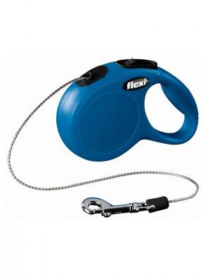 Рулетка Flexi New Classic XS трос синяя (нагрузка 3м, длина 8кг)