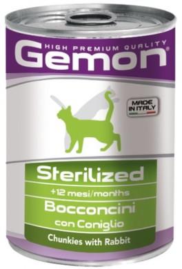 Консервы Gemon Cat Sterilised Pate Rabbit 415гр