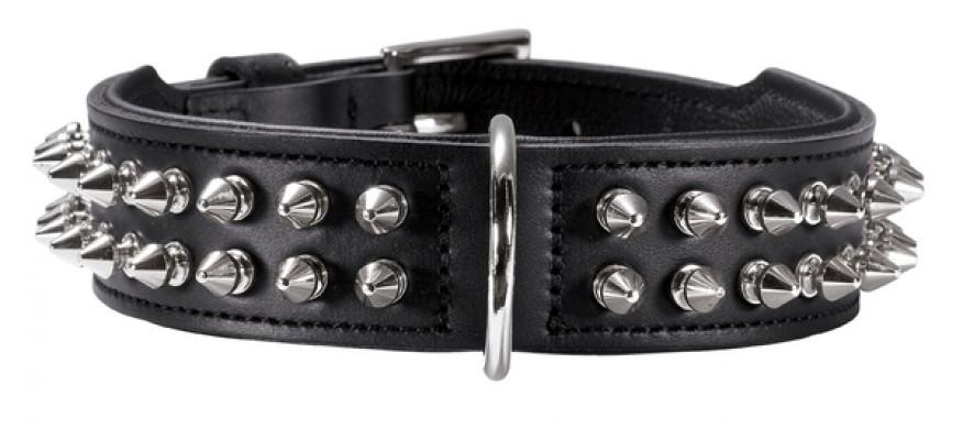 Ошейник для собак Hunter Rambo 70 черный кожа (56-63 см)