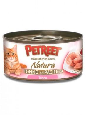 Консервы для кошек Petreet кусочки тихоокеанского тунца в рыбном бульоне 70 г