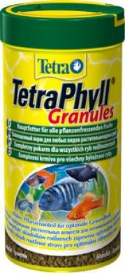 TetraPhyll Granules корм для всех видов рыб растительные гранулы 250 мл