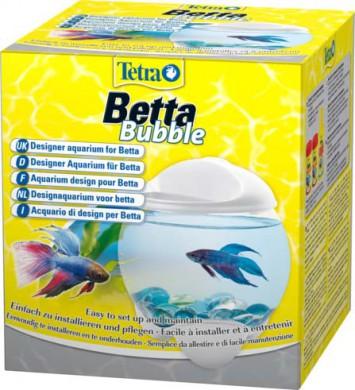 Tetra Betta Bubble белый аквариум-шар для петушков с освещением 1,8 л