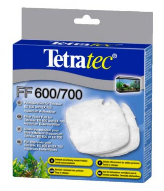 Tetra FF 400/600/700/800 губка синтепон для внешних фильтров Tetra EX 400/600/700/800 Plus 2 шт.