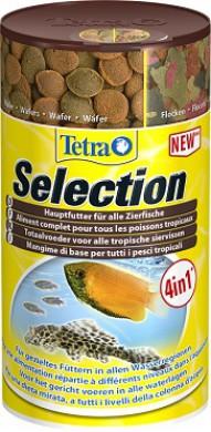 """Tetra Selection корм для всех видов рыб """"4 вида"""" хлопья/чипсы/гранулы 100 мл"""