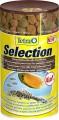 Корм Tetra Selection для всех видов рыб  4 вида (хлопья/чипсы/гранулы) 100 мл