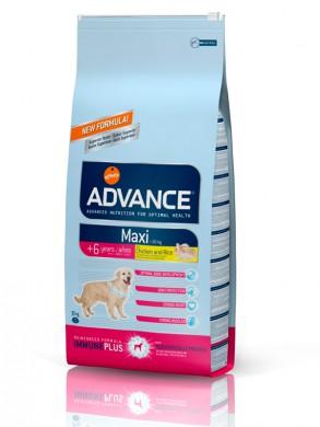Корм Advance Maxi Senior для пожилых собак крупных пород с курицей и рисом (15кг)