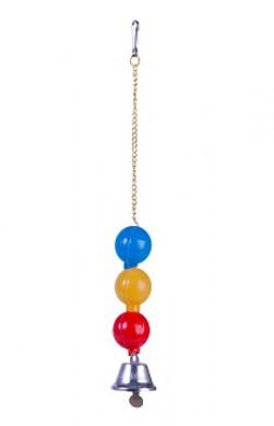 Игрушка для птиц Колокольчик 3 шарика