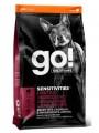 Беззерновой корм GO! NATURAL Holistic Sensitivity + Shine LID Lamb Dog Recipe, Grain Free, Potato Free для щенков и собак для чувствительного пищеварения с ягненком (9,98кг)