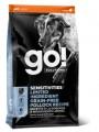 Беззерновой корм GO! NATURAL Holistic Sensitivity + Shine LID Pollock Dog Recipe, Grain Free, Potato Free для щенков и собак для чувствительного пищеварения с минтаем (9,98кг)