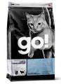 Беззерновой корм GO! Sensitivity + Shine Grain Free Pollock Cat Recipe для котят и кошек с чувствительным пищеварением с минтаем (7,26кг)