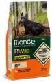 Беззерновой корм Monge BWild Grain Free Mini Adult для взрослых собак мелких пород утка с картофелем 2,5кг