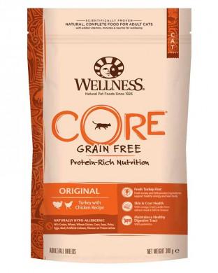 Беззерновой корм Wellness Core cat grain free Original Turkey with Chicken Recipe для взрослых кошек с Индейкой и Курицей 1,75кг