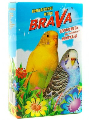 Брава корм для попугаев стандарт 500гр