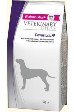 Диетическое питание Eukanuba Dermatosis FP для собак с патологией кожного покрова на зубатке (12 кг)