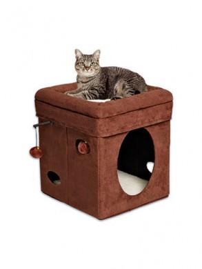 Домик-лежанка MidWest Currious Cat Cube для кошек складной (38,4х38,4х42h см)