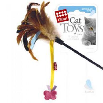 Дразнилка для кошек GiGwi с бабочкой