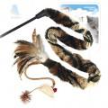 Дразнилка для кошек GiGwi с длинным хвостом и перьями