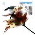 Дразнилка для кошек GiGwi с перьями