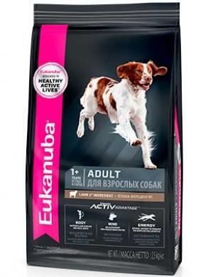 Сухой корм Eukanuba Adult Medium Lamb & Rice для мелких и средних пород собак с ягненком и рисом (12 кг)