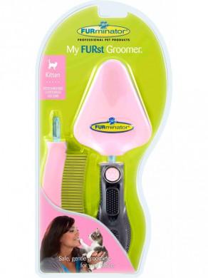 FURminator набор для котенка сликер+расческа My FURst Groomer Мой первый грумер