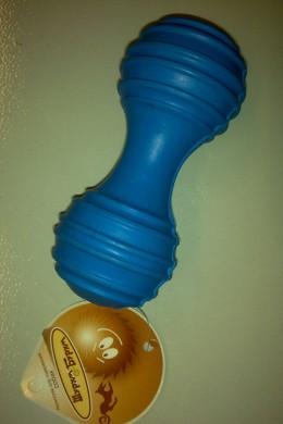 Гантель рифленая со звонком из каучука (12см)