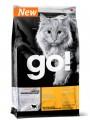 Беззерновой корм Go! Natural Holistic Sensitivity + Shine Grain Free для котят и кошек с чувствительным пищеварением с уткой  (7,26кг)