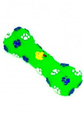 Игрушка Dezzie Косточка собака винил зеленая 5604025 (14см)