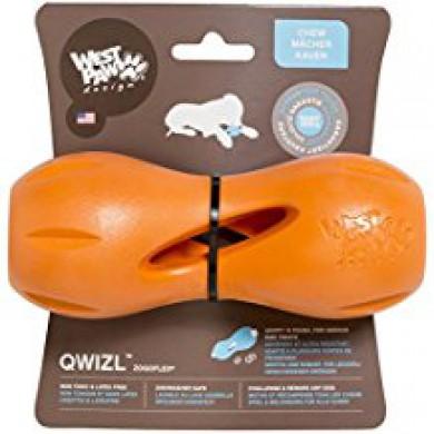 Игрушка для собак Zogoflex гантеля под лакомства Qwizl L (17 x 7 см)
