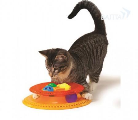 """Игрушка для кошек Petstages """"Трек Kitty's choice"""" с 4-мя сменными мячиками"""
