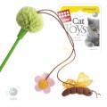 Игрушка для кошек GiGwi дразнилка зеленая с пчелой и цветочком