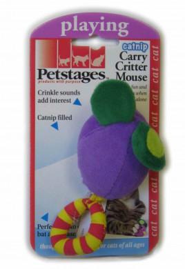 Игрушка для кошек Petstages Мышка с кошачье мятой