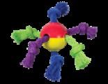 Игрушка для щенков Мячик с канатами