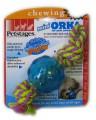Игрушка для собак Mini ОРКА мячик с канатом