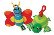 Игрушка для собак текстиль Бабочка и черепашка в ассортименте