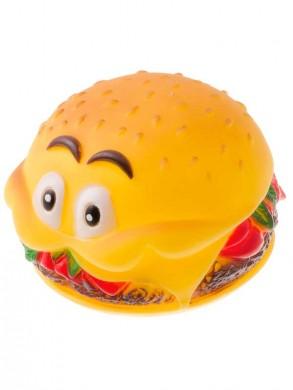 Игрушки для собак Гамбургер с глазами резиновый (8*6см)