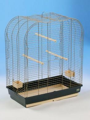 """Клетка для крупных птиц """"Сатурно"""" золотое проволочное плетение"""