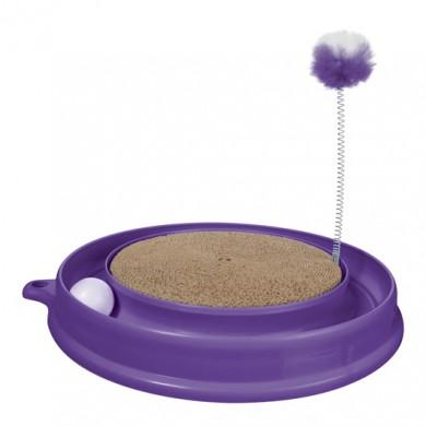 Когтеточка Hagen Play-n-Scratch круглая, фиолетовая