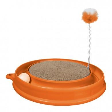 Когтеточка Hagen Play-n-Scratch круглая, оранжевая