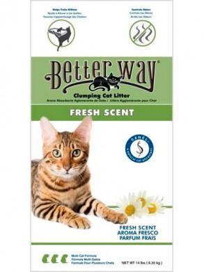 Комкующийся наполнитель Better Way Fresh Scent бентонит свежесть