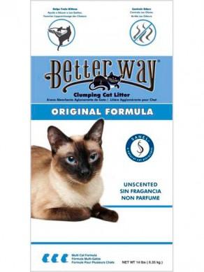 Комкующийся наполнитель Better Way Original Formula бентонит без ароматизатора 6,35 кг