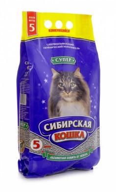 Комкующийся наполнитель Сибирская кошка Супер, крупные гранулы (10л)