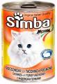 """Консервы Simba для кошек """"кусочки индейки и почки"""" (24шт/уп  по 415 гр)"""