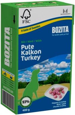Консервы Bozita мясные кусочки в желе с индейкой для собак (480 гр)