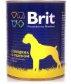 Консервы для собак Brit Beef&Millet говядина и пшено (850гр)
